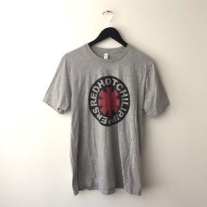Red Hot Chili Peppers Band Graphic Tee Shirt Gray